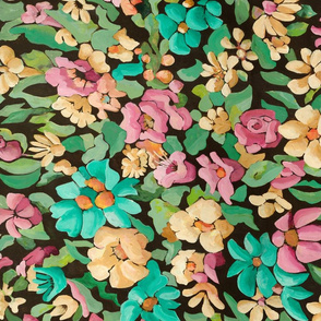 SF Fats floral tapestry