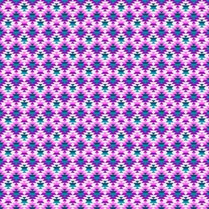 Aztec diamonds small scale pink, purple Fabric
