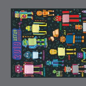 2019 Retro Robots Calendar