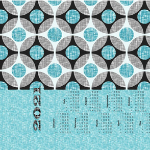 2020 is turquoise, a tea towel calendar by Su_G_©SuSchaefer(UPDATED)