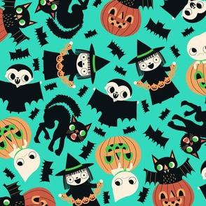 Halloween Friends Aqua