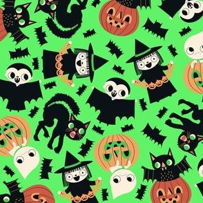 Halloween Friends Green
