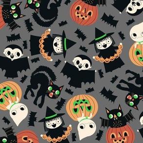 Halloween Friends Gray