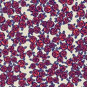 retro rose red