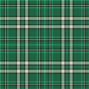Green Cream and Black Plaid