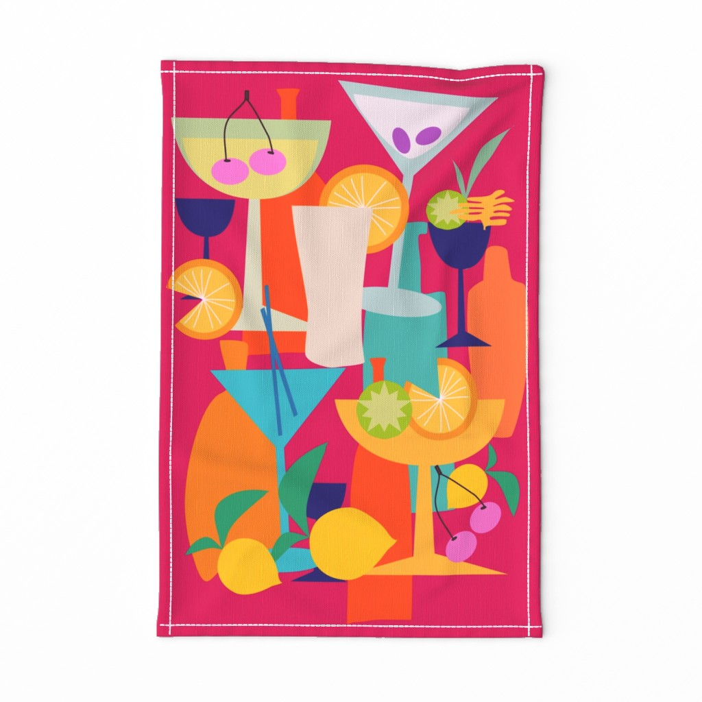 Special Edition Spoonflower Tea Towel featuring BAR stuff  by mirimo_design
