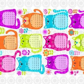 Cat Calendar tea towel