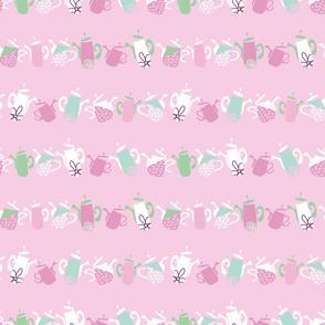 Geometric Pink DancingTeapots