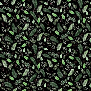 Christmas Pattern - black