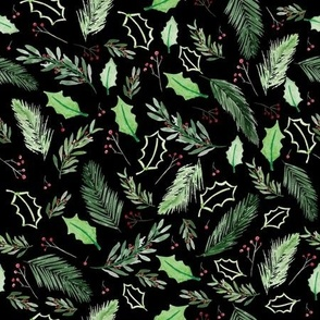 Christmas Pattern - black