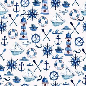 Watercolor Nautical pattern