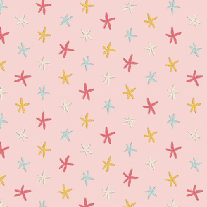 Starfish in pink