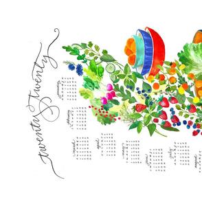 2020 farmers market tea towel calendar