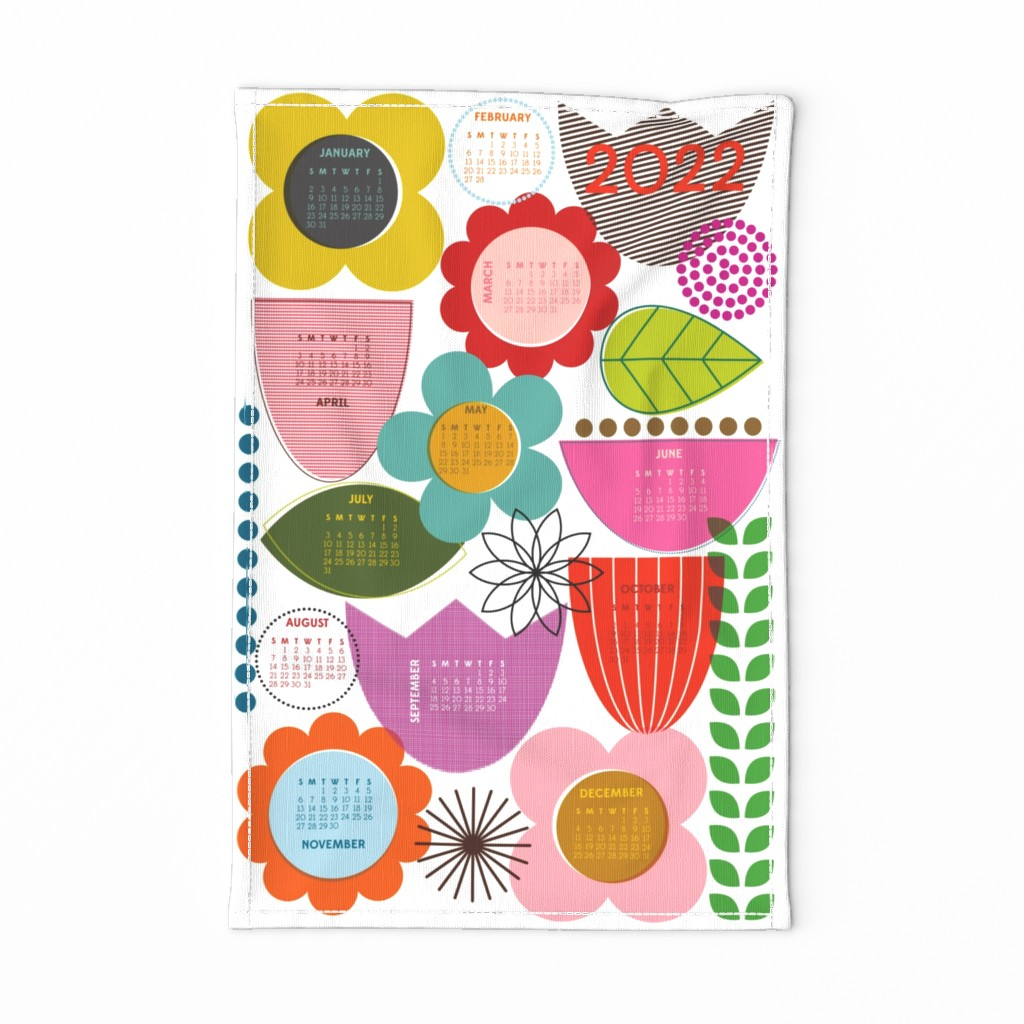Special Edition Spoonflower Tea Towel featuring Bloomers 2020 by katerhees