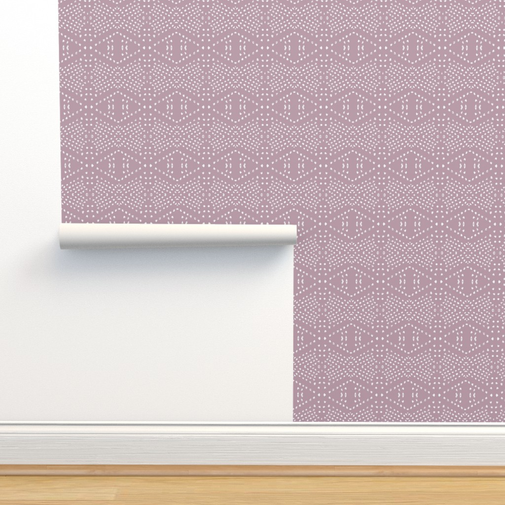 Isobar Durable Wallpaper featuring BOHO TILE MAUVE by holli_zollinger