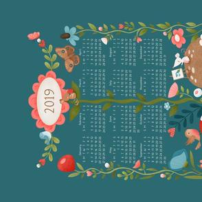 Tiny Mouse Living tea towel calendar