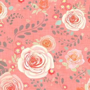 Hedgerow Roses in Pink