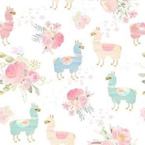 Flora llama feat blue llama alpaca
