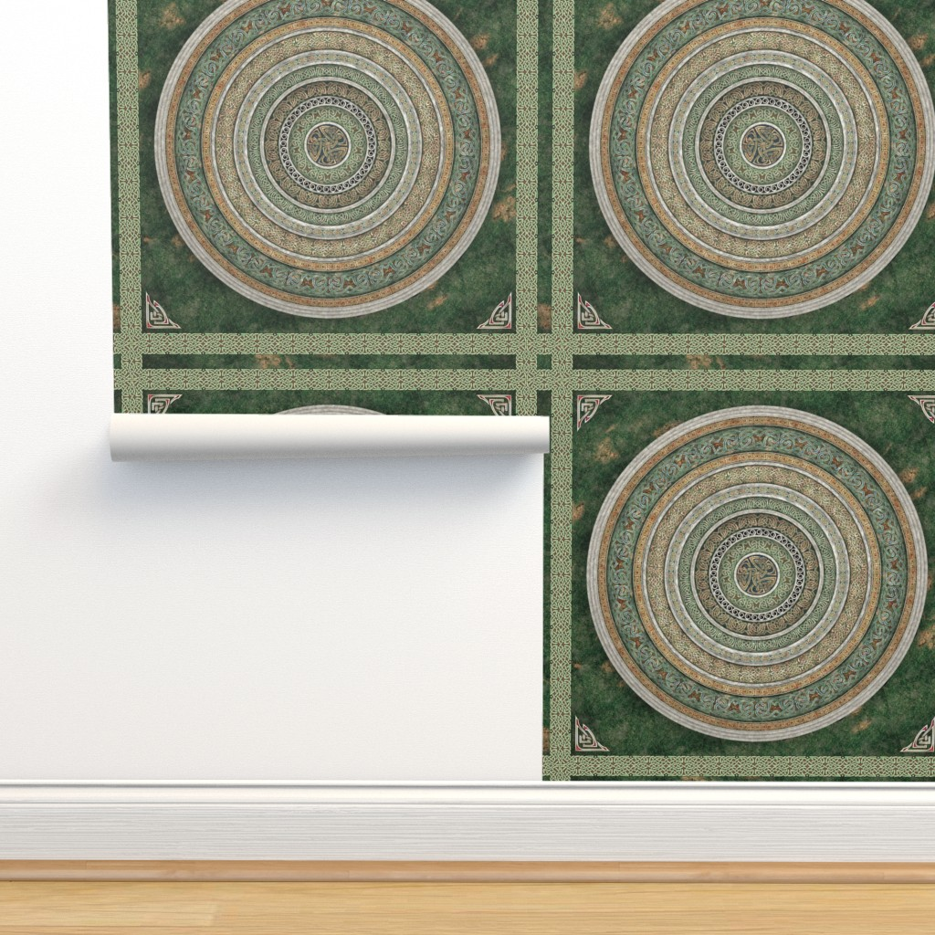 Isobar Durable Wallpaper featuring Celtic Stone Garden by bradley_w_schenck