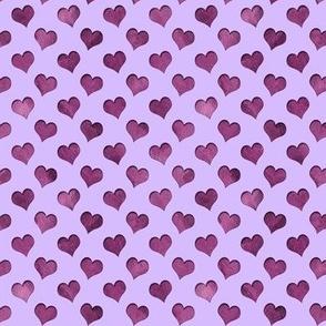 tiny cutout hearts pattern purple lilac