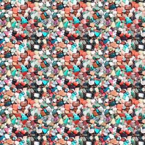 colored stones.