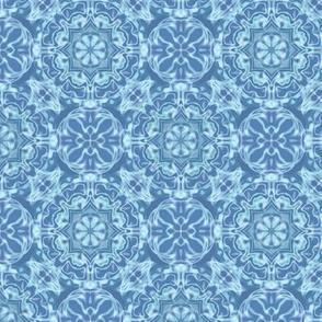 blue aqua kaleidoscope