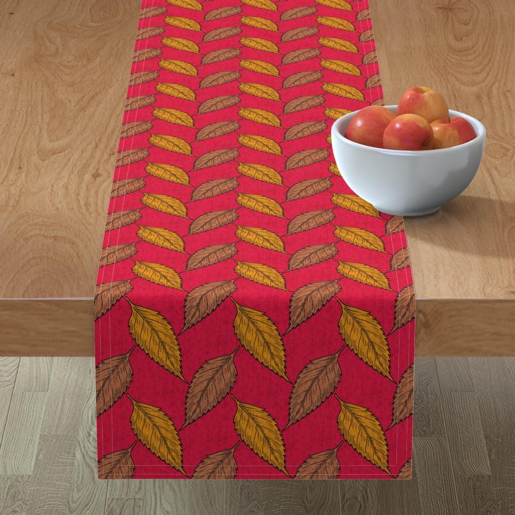 Minorca Table Runner featuring Autumn bark cloth by maidenbklyn