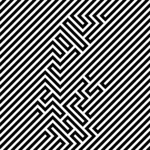 Black And White Retro Pattern