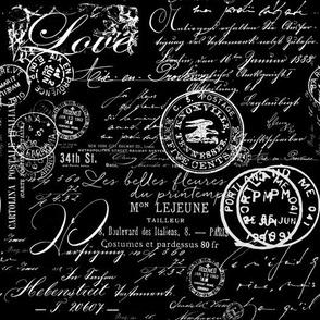 Black And White Nostalgic Handwriting