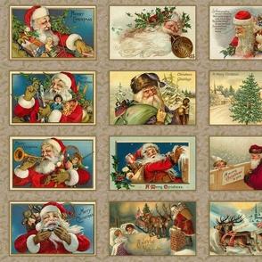 Vintage Santas Panel-E
