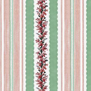 Madame de Lamballe Floral Ticking ~ Noel