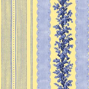 Madame de Lamballe Floral Ticking ~ Provence