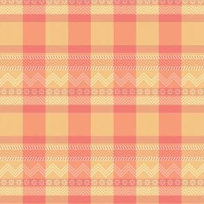 Ornamental zigzag stripe -  stripe - herringbone pattern - dotpink