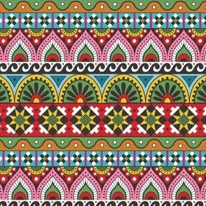Ukrainian Folk Stripe-white