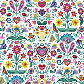 Hygge Folk Floral Pattern