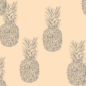 pineapples on peach