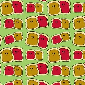 Happy Toast on Green