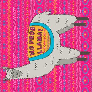 No Prob Llama Tea Towel