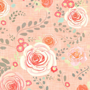Hedgerow Roses in Blush