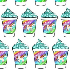 Unicorn gelato milkshake