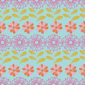 Floral Garden Tea Party Pattern