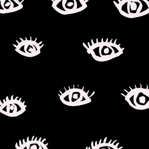 Watch me watching you pop minimal trend eyes eye lashes raw drawing ink monochrome black and white