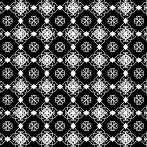 onyx white lace