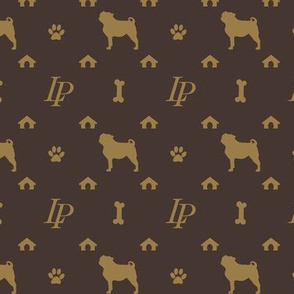 Louis Pug Face Luxury Dog Pattern