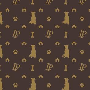 Louis Pitbull Luxury Dog Bling Pattern