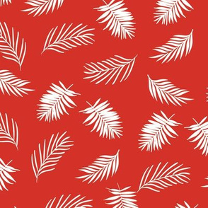Tropical Palm - Coral Red
