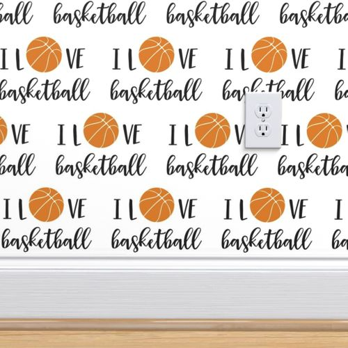 I Love Basketball Solid Spoonflower