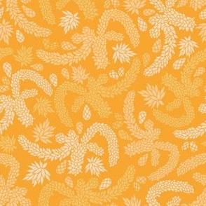 Yellow Succulent Garden Texture