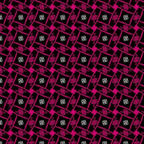 pink black tile