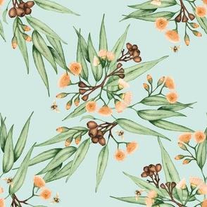 Eucalyptus Orange Green Grey w BEES
